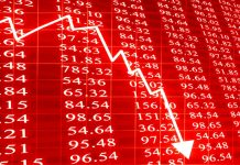 Share prices decline