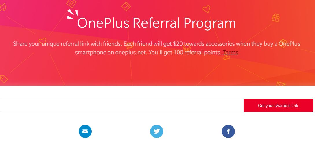 OnePlus referral program Announcement