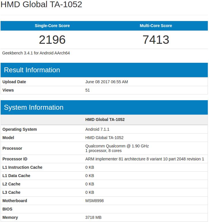 Nokia 9 with 4GB RAM