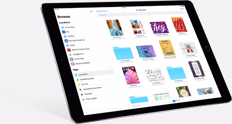 iOS 11 All Your Files in One Place
