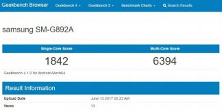 Samsung Galaxy S8 Active on Geekbench