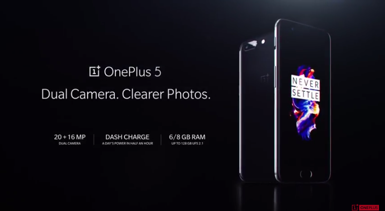 OnePlus 5 launched with dual-rear cameras, Up to 8GB RAM and 128GB storage