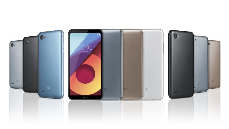 LG Launches 3 new Q Series smartphones with fullvision displays and snapdragon 835 chipsets