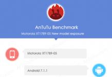 AnTuTu benchmark results