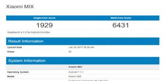 Mi MIX 2 Benchmark Results