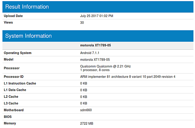 Moto X4 benchmark 2