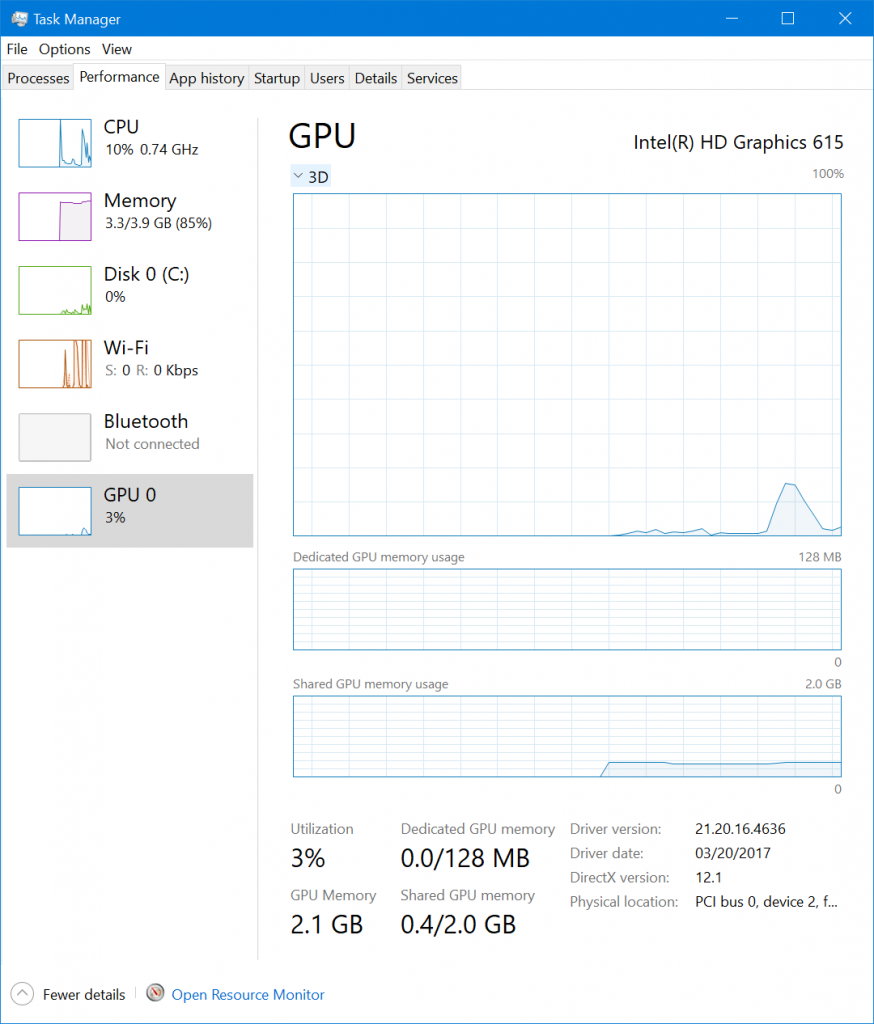 Updated GPU Section in Creators Update