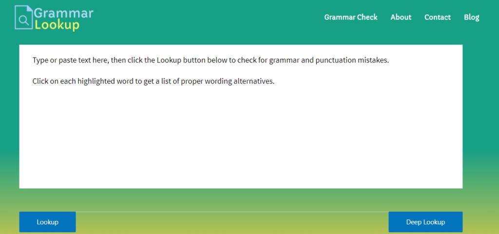 Grammar lookup
